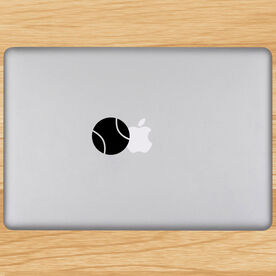 Tennis Ball Removable ChalkTalkGraphix Laptop Decal