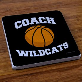 Basketball Stone Coaster Personalized Coach Basketball