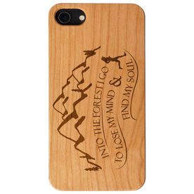 Running Engraved Wood IPhone® Case - Into The Forest I Go (Female)