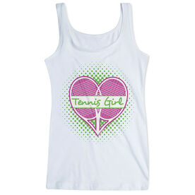 Tennis Women's Athletic Tank Top Racket Heart