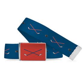 Hockey Lifestyle Belt Stick and Puck Pattern