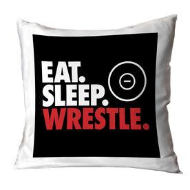 Wrestling Decorative Pillow - Eat Sleep Wrestle
