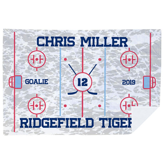 Hockey Premium Blanket - Personalized Hockey Team