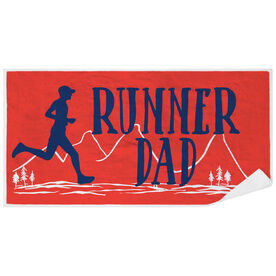 Running Premium Beach Towel - Runner Dad