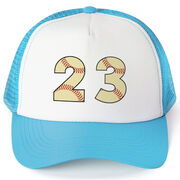 Baseball Trucker Hat - Number Stitches