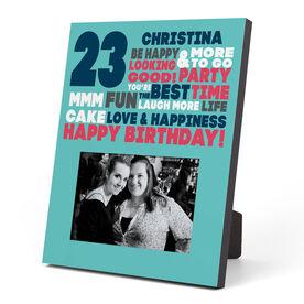 Personalized Photo Frame - Birthday Words