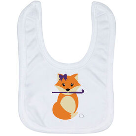 Field Hockey Baby Bib - Field Hockey Fox