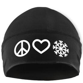 Skiing & Snowboarding Beanie Performance Hat - Peace Love Snow