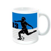 Soccer Coffee Mug Personalized 2 Tier Girl