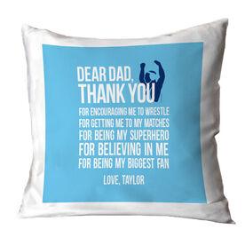 Wrestling Throw Pillow Dear Dad