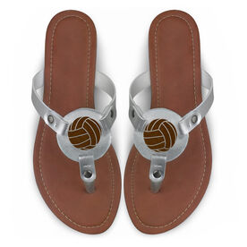 Volleyball Engraved Thong Sandal Volleyball