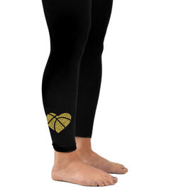 Basketball Leggings Basketball Heart