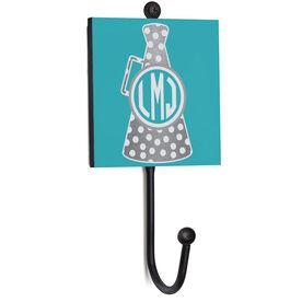 Cheerleading Medal Hook - Monogrammed Horn