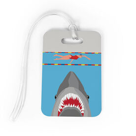 Swimming Bag/Luggage Tag - Shark Attack (Girl Swimmer)