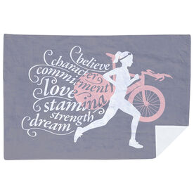 Triathlon Premium Blanket - Words to Tri By