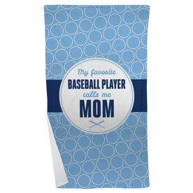 Baseball Beach Towel My Favorite Player