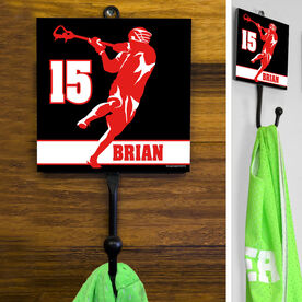 Guys Lacrosse Hook - Personalized Jump Shot Silhouette