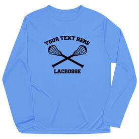 Lacrosse Long Sleeve Performance Tee - Lacrosse Custom