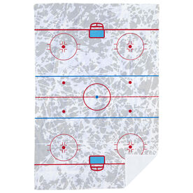 Hockey Premium Blanket - Rink (With Ice Background)