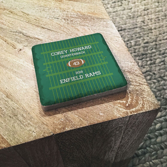 Football Stone Coaster - Personalized Team