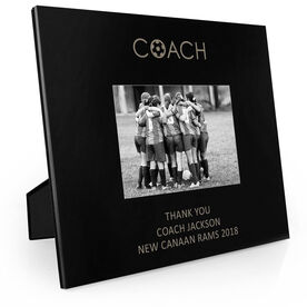Soccer Engraved Picture Frame - Coach