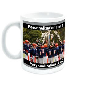 Guys Lacrosse Coffee Mug Custom Photo with Color