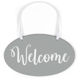 Oval Sign - Welcome