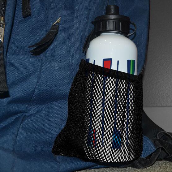 Crew 20 oz. Stainless Steel Water Bottle - Oar Pattern Vertical