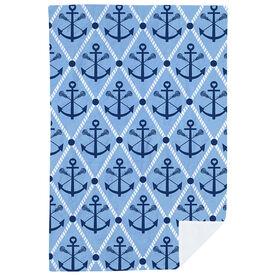 Girls Lacrosse Premium Blanket - Lacrosse Anchor Argyle
