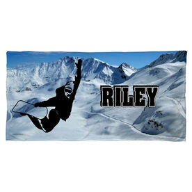 Snowboarding Beach Towel Personalized Silhouette