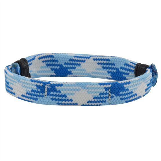 Hockey Lace Bracelet Carolina Blue Argyle Adjustable Wrister Bracelet