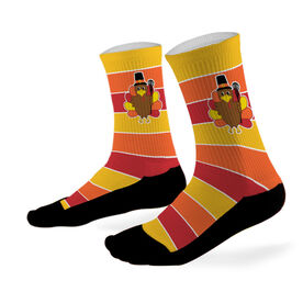 Lacrosse Printed Mid Calf Socks Turkey With Stripes