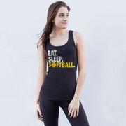Softball Women's Athletic Tank Top Eat. Sleep. Softball.