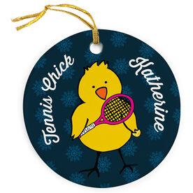 Tennis Porcelain Ornament Chick