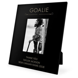 Field Hockey Engraved Picture Frame - Goalie