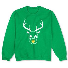 Softball Crew Neck Sweatshirt - Reindeer