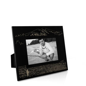 Fly Fishing Engraved Picture Frame - Fishing Time