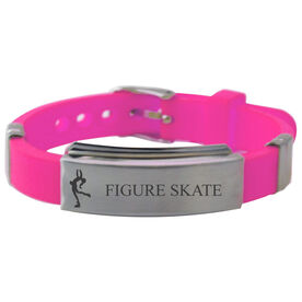 Figure Skater Silicone Bracelet