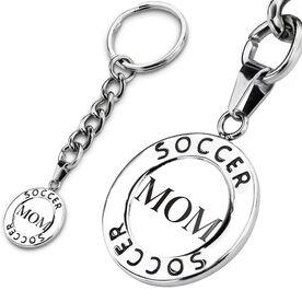 Soccer Circle Keychain Mom