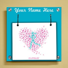 Personalized Run With Your Heart Wall BibFOLIO® Display