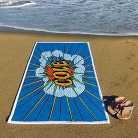 Personalized Premium Beach Towel - Pow