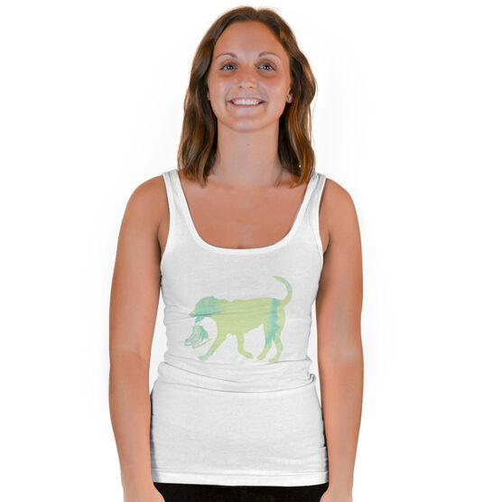 Figure Skating Vintage Fitted Tank Top - Dog With Skates