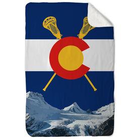 Guys Lacrosse Sherpa Fleece Blanket Colorado Lacrosse