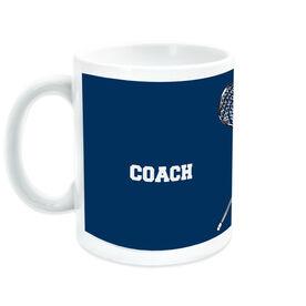 Guys Lacrosse Coffee Mug Thanks Coach