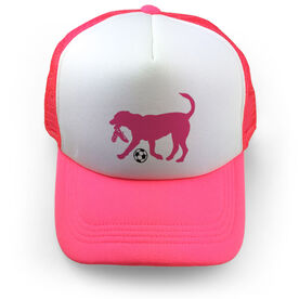 Soccer Trucker Hat Dogs
