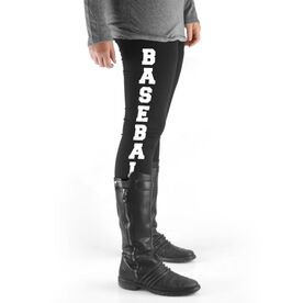 Baseball High Print Leggings - Baseball