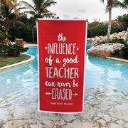Personalized Premium Beach Towel - Teacher Never Be Erased