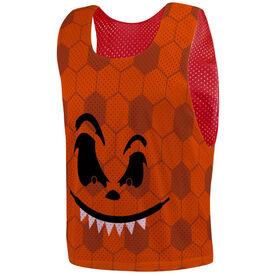 Soccer Pinnie - Pumpkin Face