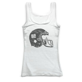 Football Vintage Fitted Tank Top - Number Helmet