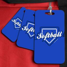 Softball Bag/Luggage Tag Softball Home Plate
